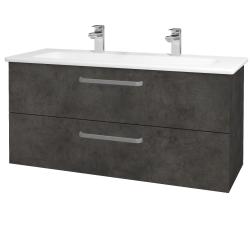 Dřevojas - Koupelnová skříň GIO SZZ2 120 - D16  Beton tmavý / Úchytka T01 / D16 Beton tmavý (202910AU)