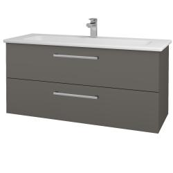 Dřevojas - Koupelnová skříň GIO SZZ2 120 - N06 Lava / Úchytka T03 / N06 Lava (203047C)