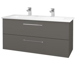 Dřevojas - Koupelnová skříň GIO SZZ2 120 - N06 Lava / Úchytka T04 / N06 Lava (203047EU)