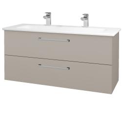 Dřevojas - Koupelnová skříň GIO SZZ2 120 - N07 Stone / Úchytka T03 / N07 Stone (203054CU)