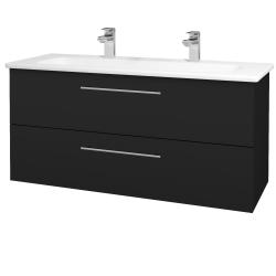 Dřevojas - Koupelnová skříň GIO SZZ2 120 - N08 Cosmo / Úchytka T02 / N08 Cosmo (203061BU)
