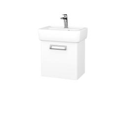 Dřevojas - Koupelnová skříň DOOR SZD 45 - M01 Bílá mat / M01 Bílá mat / Pravé (205041P)
