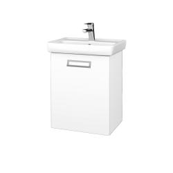 Dřevojas - Koupelnová skříň DOOR SZD 50 - M01 Bílá mat / Úchytka T39 / M01 Bílá mat / Levé (205089G)