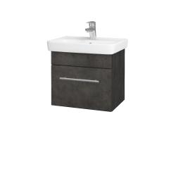 Dřevojas - Koupelnová skříň SOLO SZZ 50 - D16  Beton tmavý / Úchytka T02 / D16 Beton tmavý (205263B)