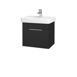 Dřevojas - Koupelnová skříň SOLO SZZ 50 - N03 Graphite / Úchytka T05 / N03 Graphite (205409F)