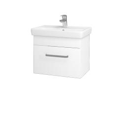 Dřevojas - Koupelnová skříň SOLO SZZ 55 - M01 Bílá mat / Úchytka T01 / M01 Bílá mat (205485A)