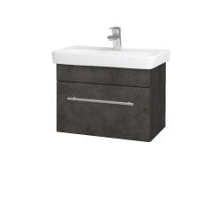 Dřevojas - Koupelnová skříň SOLO SZZ 60 - D16  Beton tmavý / Úchytka T02 / D16 Beton tmavý (205669B)