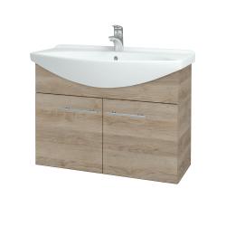 Dřevojas - Koupelnová skříň TAKE IT SZD2 85 - D17 Colorado / Úchytka T02 / D17 Colorado (206192B)