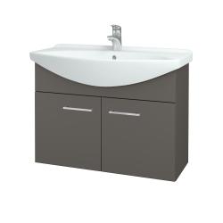 Dřevojas - Koupelnová skříň TAKE IT SZD2 85 - N06 Lava / Úchytka T04 / N06 Lava (206291E)