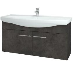 Dřevojas - Koupelnová skříň TAKE IT SZD2 120 - D16  Beton tmavý / Úchytka T02 / D16 Beton tmavý (206505B)