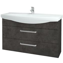 Dřevojas - Koupelnová skříň TAKE IT SZZ2 120 - D16  Beton tmavý / Úchytka T01 / D16 Beton tmavý (208103A)