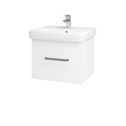Dřevojas - Koupelnová skříň Q UNO SZZ 55 - M01 Bílá mat / Úchytka T01 / M01 Bílá mat (208288A)