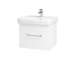 Dřevojas - Koupelnová skříň Q UNO SZZ 55 - M01 Bílá mat / Úchytka T04 / M01 Bílá mat (208288E)