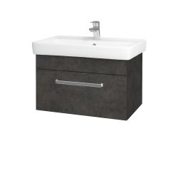 Dřevojas - Koupelnová skříň Q UNO SZZ 70 - D16  Beton tmavý / Úchytka T01 / D16 Beton tmavý (208660A)