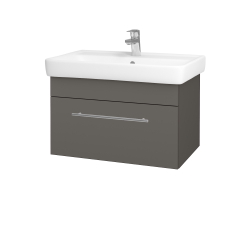 Dřevojas - Koupelnová skříň Q UNO SZZ 70 - N06 Lava / Úchytka T02 / N06 Lava (208813B)