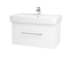 Dřevojas - Koupelnová skříň Q UNO SZZ 80 - M01 Bílá mat / Úchytka T04 / M01 Bílá mat (208882E)