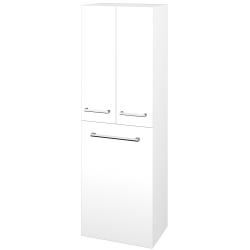 Dřevojas - Skříň vysoká DOS SVD3K 50 - M01 Bílá mat / Úchytka T03 / M01 Bílá mat (209650C)