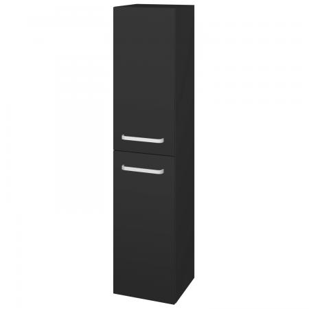 Dřevojas - Skříň vysoká s košem DOS SVD2K 35 - N03 Graphite / Úchytka T01 / N03 Graphite / Pravé (210939AP)