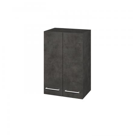 Dřevojas - Skříň horní DOS SYD2 50 - D16  Beton tmavý / Úchytka T03 / D16 Beton tmavý (210977C)