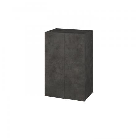Dřevojas - Skříň horní DOS SYD2 50 - D16  Beton tmavý / Bez úchytky T31 / D16 Beton tmavý (210977D)