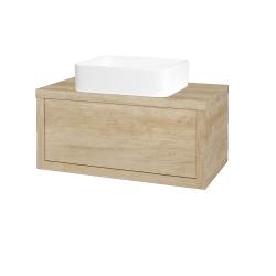 Dřevojas - Koupelnová skříň STORM SZZ 80 (umyvadlo Joy) - D15 Nebraska / D15 Nebraska (212957)