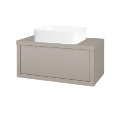 Dřevojas - Koupelnová skříň STORM SZZ 80 (umyvadlo Joy) - N07 Stone / N07 Stone (213220)