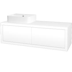 Dřevojas - Koupelnová skříň STORM SZZ2 120 (umyvadlo Joy 3) - L01 Bílá vysoký lesk / L01 Bílá vysoký lesk / Pravé (218980P)