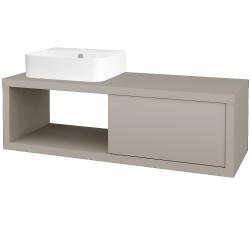 Dřevojas - Koupelnová skříň STORM SZZO 120 (umyvadlo Joy 3) - N07 Stone / N07 Stone / Levé (219468)