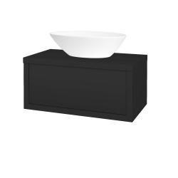 Dřevojas - Koupelnová skříň STORM SZZ 80 (umyvadlo Triumph) - N03 Graphite / N03 Graphite (219994)