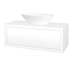 Dřevojas - Koupelnová skříň STORM SZZ 100 (umyvadlo Triumph) - M01 Bílá mat / M01 Bílá mat (220167)