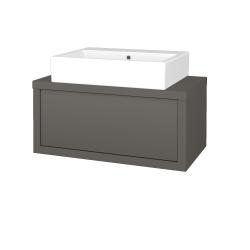 Dřevojas - Koupelnová skříň STORM SZZ 80 (umyvadlo Kube) - N06 Lava / N06 Lava (221096)
