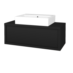 Dřevojas - Koupelnová skříň STORM SZZ 100 (umyvadlo Kube) - N08 Cosmo / N08 Cosmo (221294)