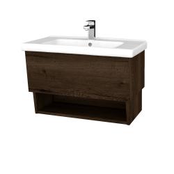 Dřevojas - Koupelnová skříň INVENCE SZZO 80 (umyvadlo Harmonia) - D21 Tobacco / D21 Tobacco (245856)