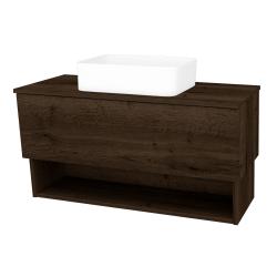 Dřevojas - Koupelnová skříň INVENCE SZZO 100 (umyvadlo Joy) - D21 Tobacco / D21 Tobacco (248741)