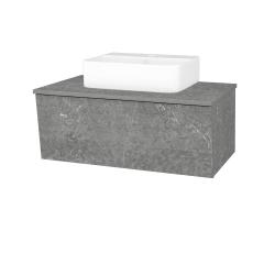 Dřevojas - Koupelnová skříň INVENCE SZZ 80 (umyvadlo Joy 3) - D20 Galaxy / D20 Galaxy (249458)