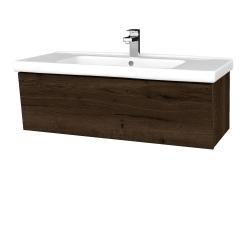 Dřevojas - Koupelnová skříň INVENCE SZZ 100 (umyvadlo Harmonia) - D21 Tobacco / D21 Tobacco (249540)