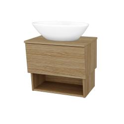 Dřevojas - Koupelnová skříň INVENCE SZZO 65 (umyvadlo Triumph) - A01 Dub (masiv) / A01 Dub (masiv) (249991)