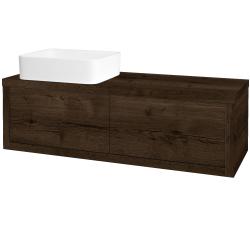 Dřevojas - Koupelnová skříň STORM SZZ2 120 (umyvadlo Joy) - D21 Tobacco / D21 Tobacco / Levé (251895)