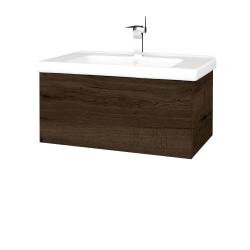 Dřevojas - Koupelnová skříň VARIANTE SZZ 80 (umyvadlo Harmonia) - D21 Tobacco / D21 Tobacco (258931)