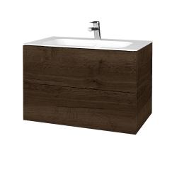 Dřevojas - Koupelnová skříň VARIANTE SZZ2 80 - D21 Tobacco / D21 Tobacco (268954)