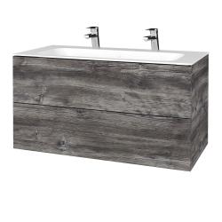 Dřevojas - Koupelnová skříň VARIANTE SZZ2 100 - D10 Borovice Jackson / D10 Borovice Jackson (269531U)