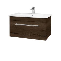 Dřevojas - Koupelnová skříň ASTON SZZ 80 - D21 Tobacco / Úchytka T03 / D21 Tobacco (276676C)