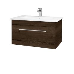 Dřevojas - Koupelnová skříň ASTON SZZ 80 - D21 Tobacco / Úchytka T04 / D21 Tobacco (276676E)