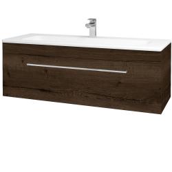 Dřevojas - Koupelnová skříň ASTON SZZ 120 - D21 Tobacco / Úchytka T04 / D21 Tobacco (276799E)