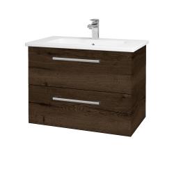 Dřevojas - Koupelnová skříň GIO SZZ2 80 - D21 Tobacco / Úchytka T03 / D21 Tobacco (277239C)