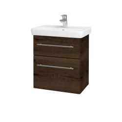 Dřevojas - Koupelnová skříň GO SZZ2 55 - D21 Tobacco / Úchytka T02 / D21 Tobacco (278854B)