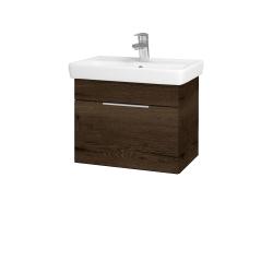 Dřevojas - Koupelnová skříň SOLO SZZ 55 - D21 Tobacco / Úchytka T05 / D21 Tobacco (278977F)