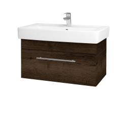 Dřevojas - Koupelnová skříň Q UNO SZZ 80 - D21 Tobacco / Úchytka T02 / D21 Tobacco (279783B)