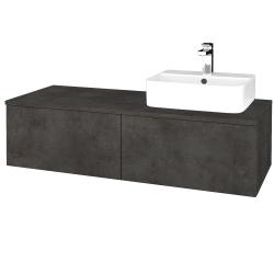 Dřevojas - Koupelnová skříňka MODULE SZZ12 120 - D16  Beton tmavý / D16 Beton tmavý / Levé (300791)