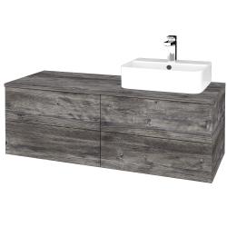 Dřevojas - Koupelnová skříňka MODULE SZZ4 120 - D10 Borovice Jackson / D10 Borovice Jackson / Levé (301712)